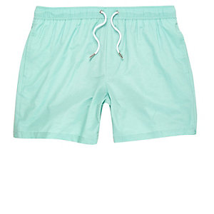 Mint green swim trunks