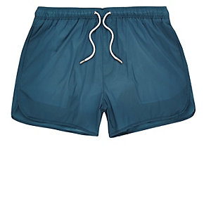 Turquoise runner swim shorts