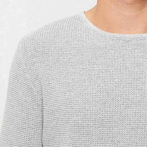 Tunique grise longue texturée