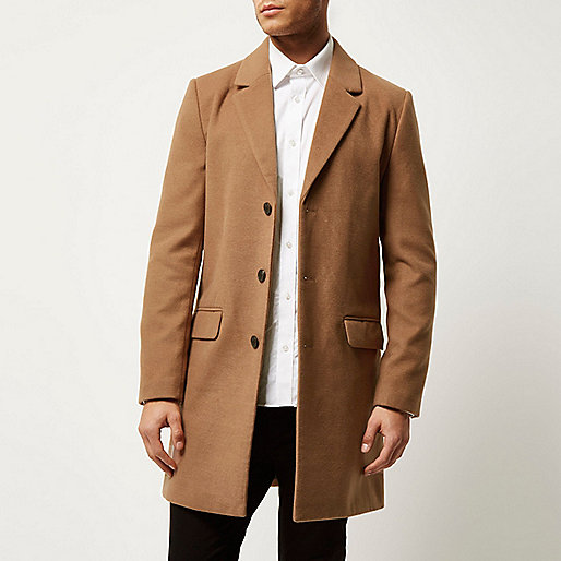 Tan smart overcoat