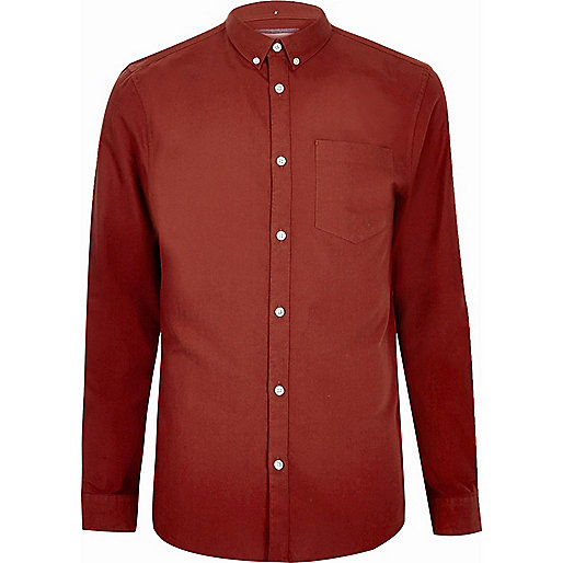 Red Oxford shirt