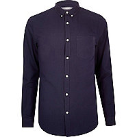 Purple Oxford shirt