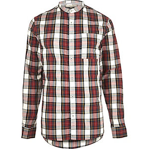 Red checked Oxford shirt