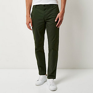 Forest green slim fit pants