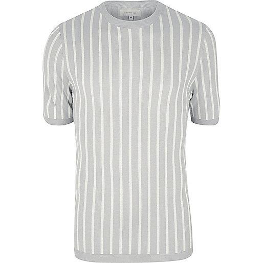Grey stripe T-shirt