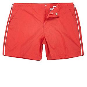 Orange side stripe swim shorts