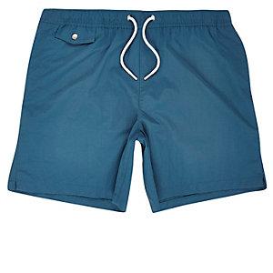 Blue pocket swim trunks