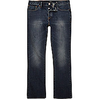 Dark blue wash Clint bootcut jeans