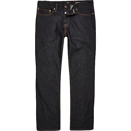 Dark blue rinse Clint bootcut jeans