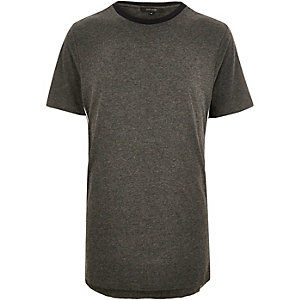 Dark grey sporty trim t-shirt