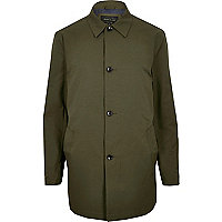 Green smart minimal mac coat