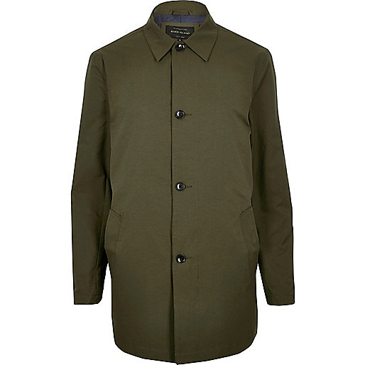 Trench vert habillé minimaliste