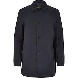 Navy smart minimal mac coat