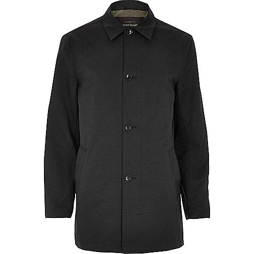 Trench habillé noire minimaliste