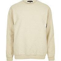 Light brown crew neck sweatshirt