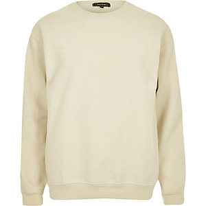 Light brown crew neck sweatshirt