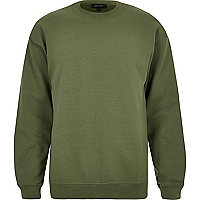 Dark green crew neck sweatshirt
