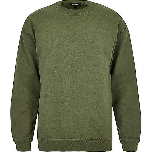 Dark green crew neck sweatshirt