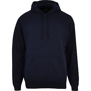 Navy cotton hoodie