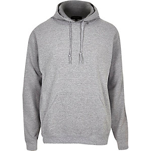 Grey cotton hoodie