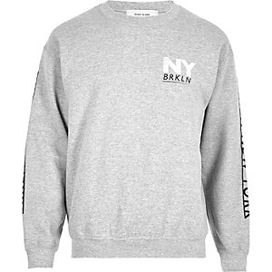 Grey print sweatshirt
