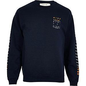 Navy print sweatshirt