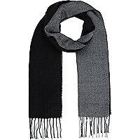 Écharpe color block noire