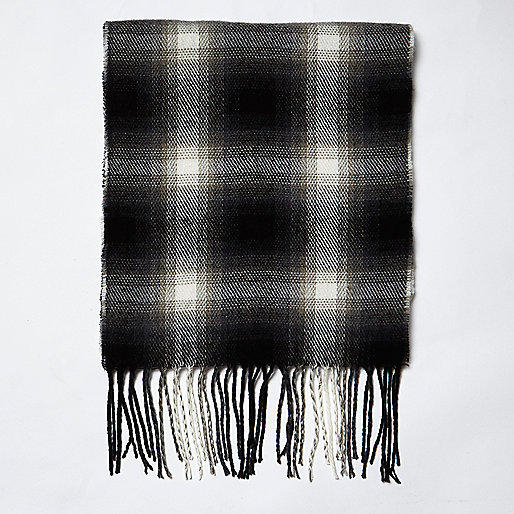 Foulard à motif écossais noir