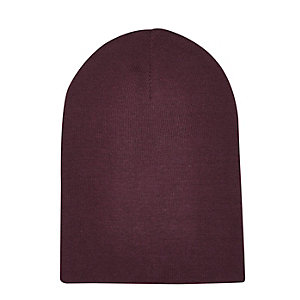 Dark red slouchy beanie