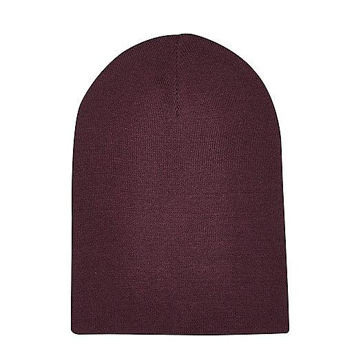 Bonnet souple rouge foncé