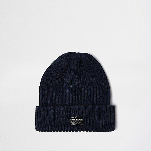 Blue fisherman beanie