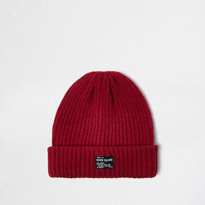 Red fisherman beanie