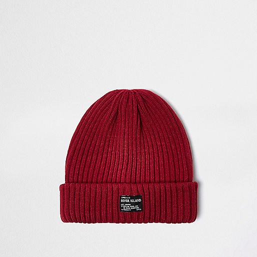 Red fisherman beanie hat