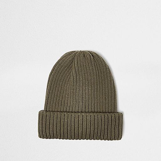 Grüne Beanie-Mütze