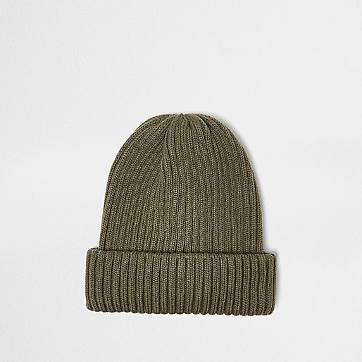Green fisherman beanie hat
