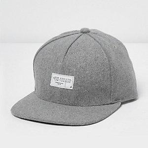 Grey melton cap
