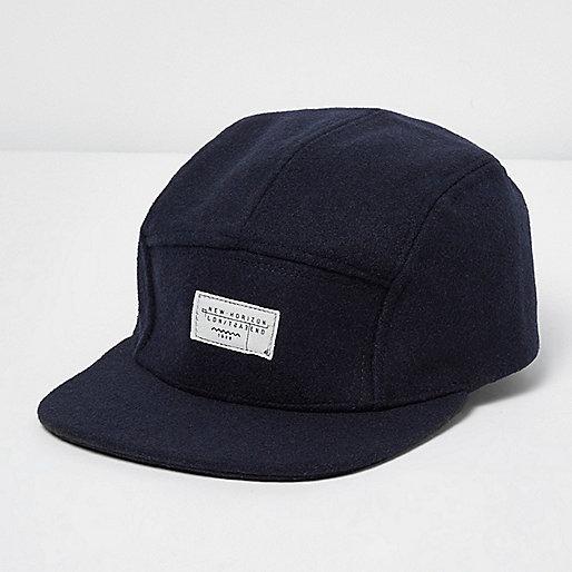 Navy melton cap