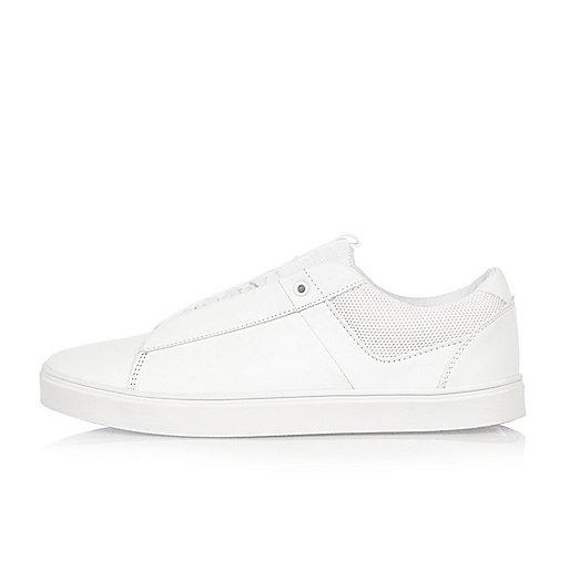 White minimal trainers