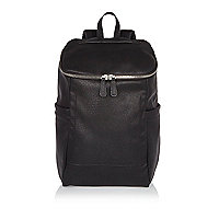 Black bucket backpack