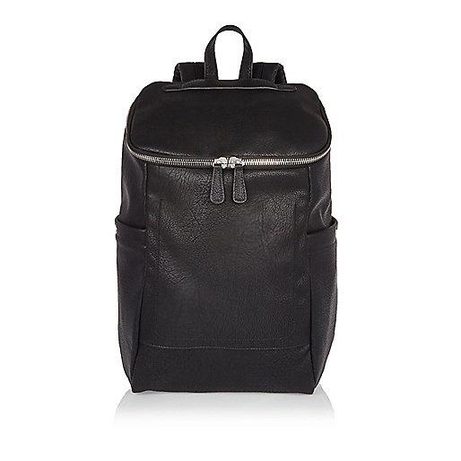 Black bucket backpack