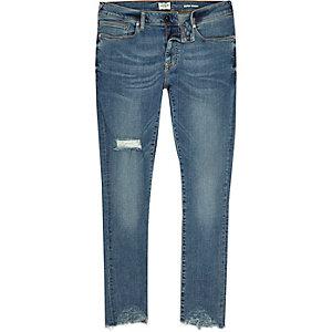 Danny – Super Skinny Jeans in mittelblauer Waschung