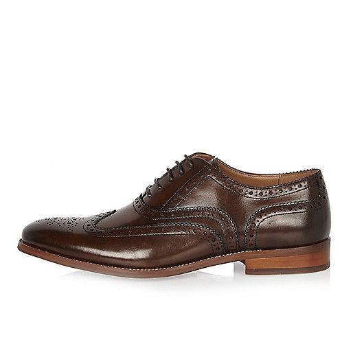 Dark brown leather brogues