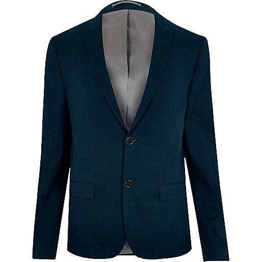 Marineblaue, kurze Anzugsjacke