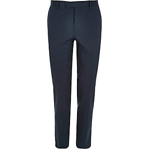 Blue skinny fit suit pants