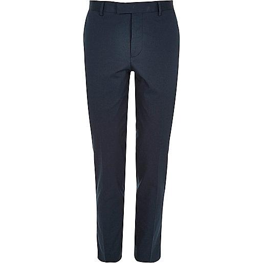 Blue skinny fit suit pants