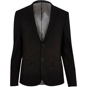 Black skinny suit jacket