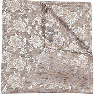 Champagne floral print wedding pocket square