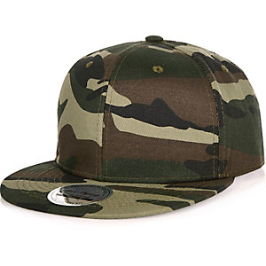 Green camouflage snapback