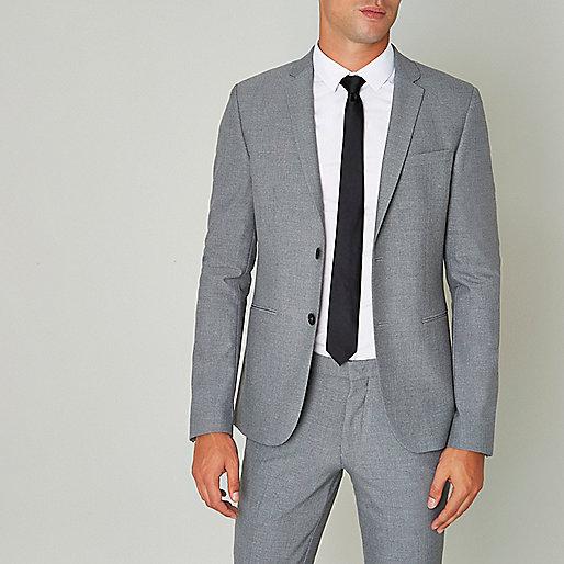 Veste de costume grise ultra ajustée