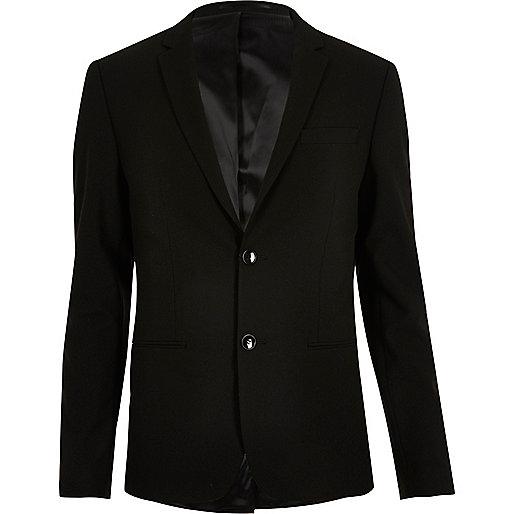 Schwarze Superskinny Anzugsjacke